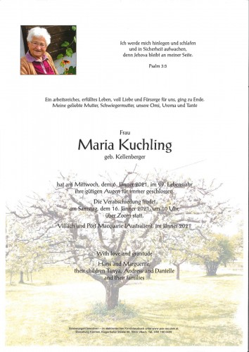 Maria Kuchling geb. Kellenberger