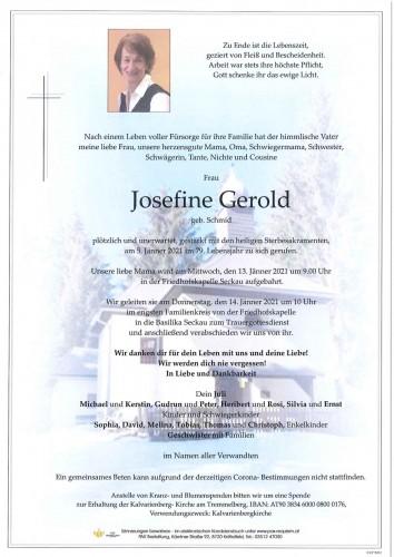 Josefine Gerold geb. Schmid