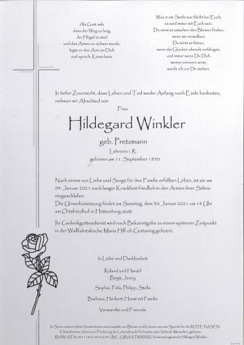 Hildegard Winkler  geb.Pretzmann