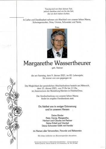 Margarethe Wassertheurer, geb. Steiner