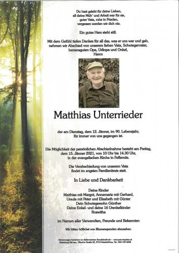 """Matthias """"Hias"""" Unterrieder"""