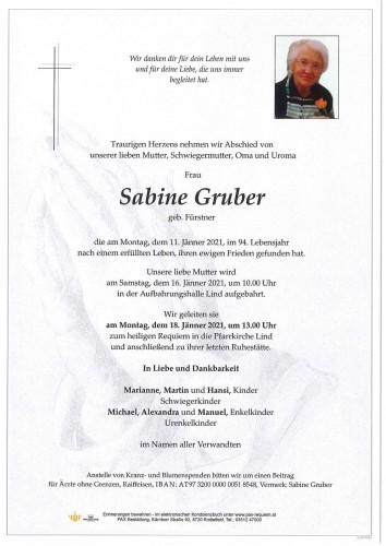 Sabine Gruber geb. Fürstner