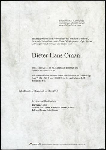 OMAN Dieter Hans