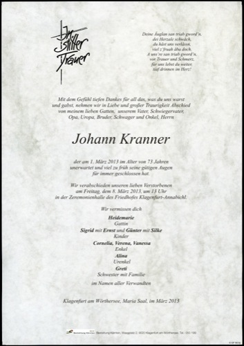 KRANNER Johann