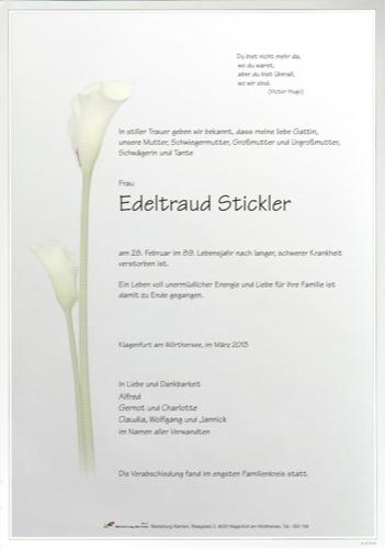 STICKLER Edeltraud