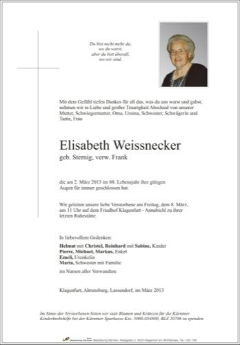 WEISSNECKER Elisabeth
