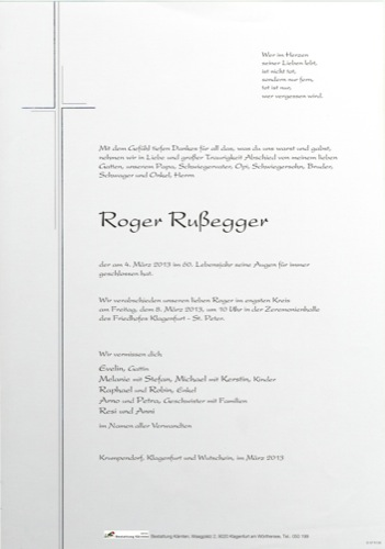 RUßEGGER Roger