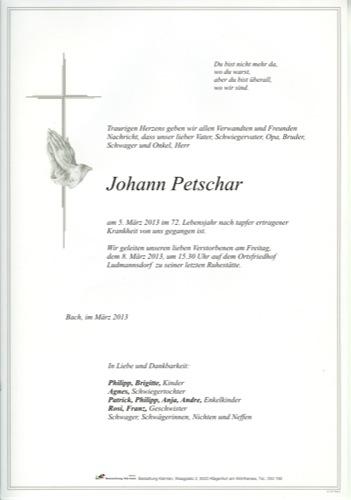PETSCHAR Johann