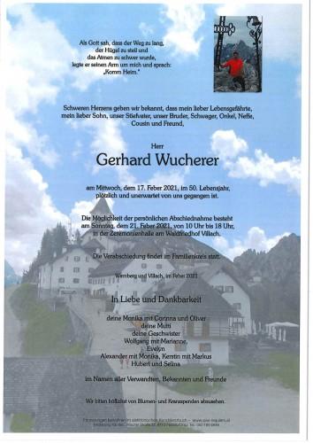 Gerhard Wucherer