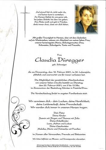 Claudia Düregger, geb. Schweiger