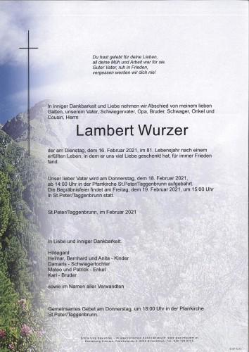 Lambert Wurzer