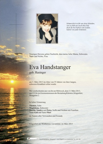 HANDSTANGER  Eva