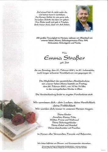 Emma Straßer, geb. Jost
