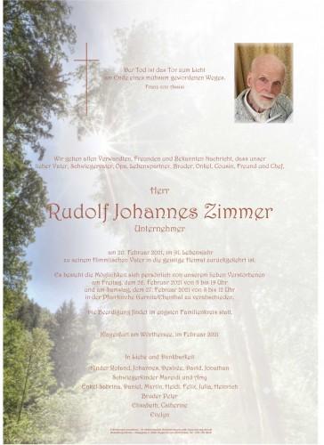 Rudolf Johannes Zimmer