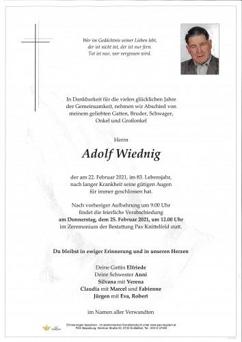 Adolf Wiednig