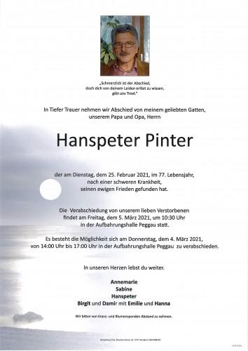 Hanspeter Pinter