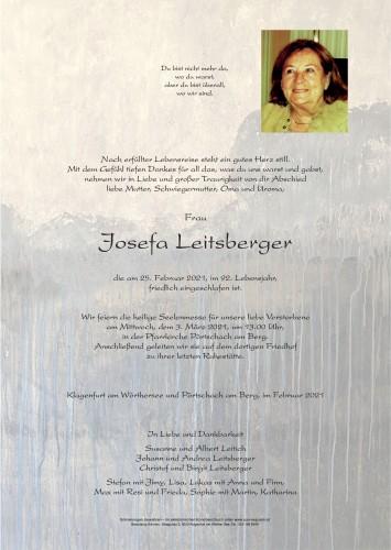 Josefa Leitsberger