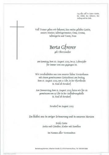 Berta Gfrerer