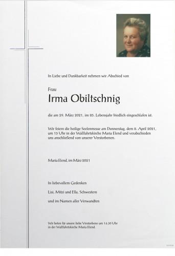 Irma Obiltschnig