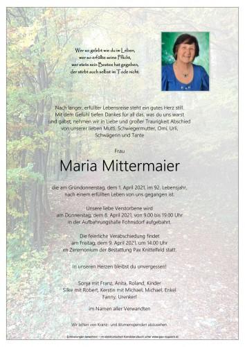 Maria Mittermaier