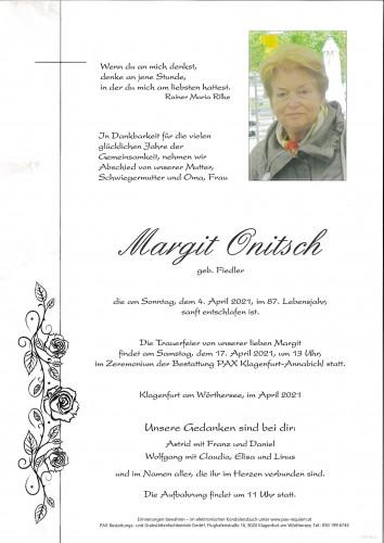 Margit Onitsch