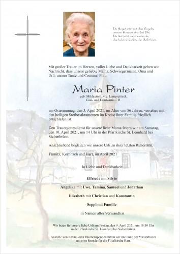 Maria Pinter, geb. Miklautsch