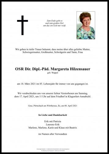 OSR Dir Dipl.-Päd Margareta Hilzensauer