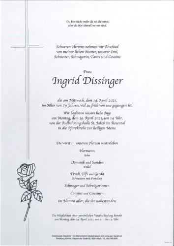 Ingrid Dissinger