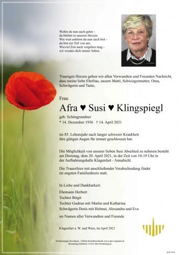 Afra Susi Klingspiegl