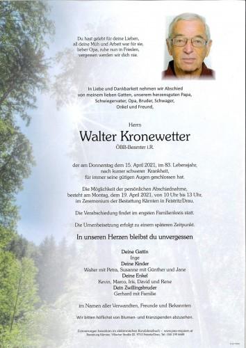 Walter Kronewetter