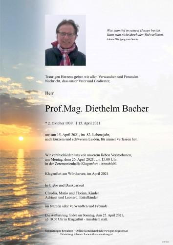 Prof.Mag. Diethelm Bacher