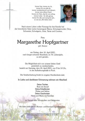 Margarethe Hopfgartner, geb. Kramer