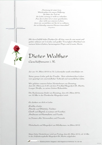 WALTHER Dieter