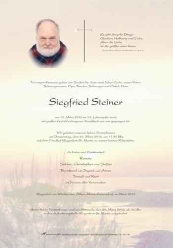 STEINER Siegfried