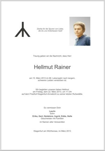 RAINER Hellmut