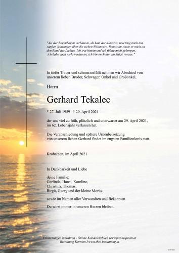Gerhard Tekalec