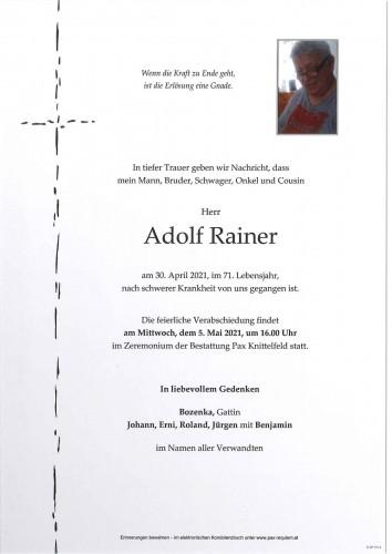 Adolf Rainer