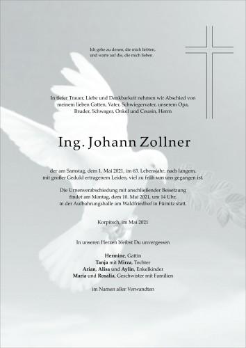 Ing. Johann Zollner
