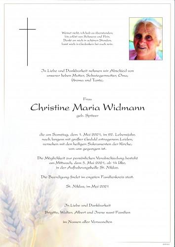 Christine Maria Widmann
