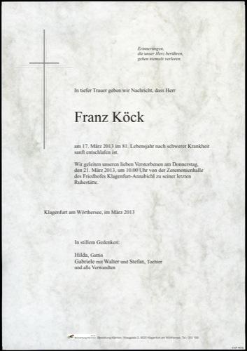 KÖCK Franz