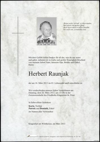 RAUNJAK Herbert