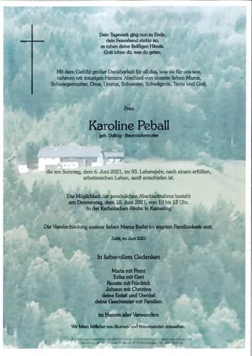 Karoline Peball, geb. Dullnig - Baumrießermutter