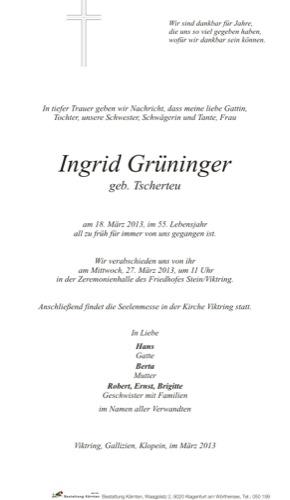 GRÜNINGER Ingrid