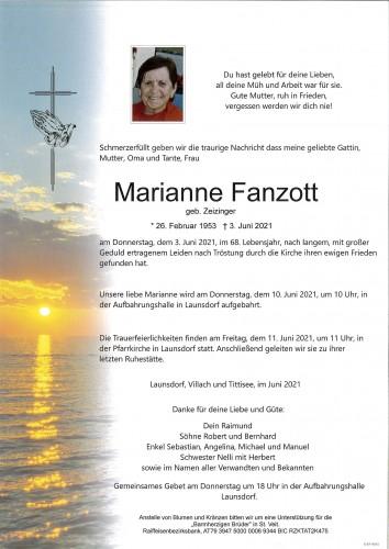 Marianne Fanzott  geb. Zeizinger