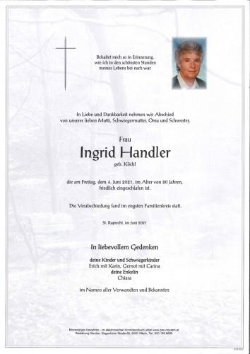 Ingrid Handler geb. Köchl