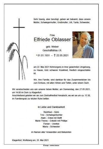 Elfriede Oblasser