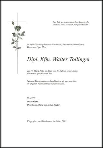 TOLLINGER Walter