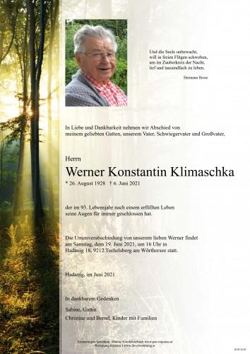 Werner Klimaschka
