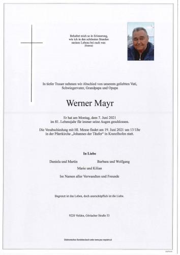 Werner Mayr