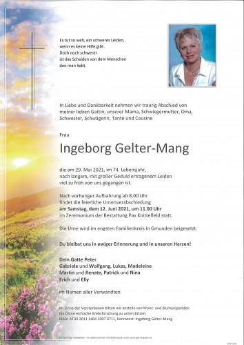 Ingeborg Gelter-Mang